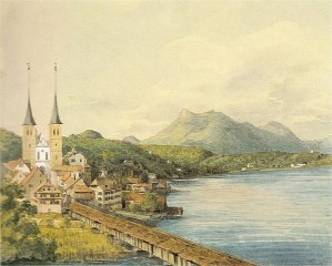 View of Lucerne by Mendelssohn, 1847